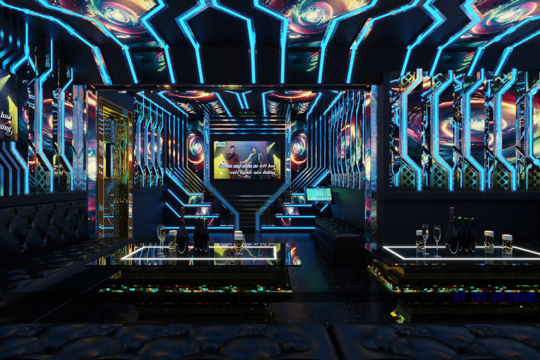 Mẫu thiết kế 3D của Nội thất Karaoke Pro